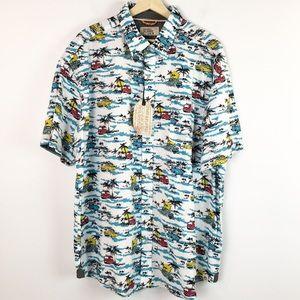 Free Planet Men's Button Shirt Hawaiian Size 3X